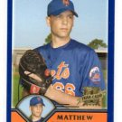 Matthew Peterson RC Trading Card 2003 Topps Traded #T254 Mets