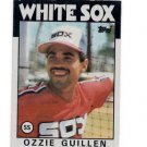 Ozzie Guillen RC Trading Card Single 1986 Topps #254 White Sox NMT Chipping