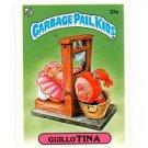 Guillo Tina License Back Sticker 1985 Topps Garbage Pail Kids UK Mini #37a