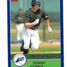 Jonny Gomes RC Trading Card Single 2003 Topps #T161 Rays