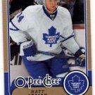 Matt Stajan Trading Card SIngle 2008-09 OPC #166 Leafs