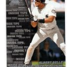 Albert Belle Trading Card Single 1998 Pinnacle Inside #143 White Sox