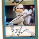 Robert Hefflinger Trading Card Single 2009 Bowman Draft Gold #BDPP48  Braves