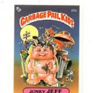 Junky Jeff License Back Sticker 1985 Topps Garbage Pail Kids UK Mini #22a