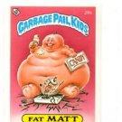 Fat Matt License Back Sticker 1985 Topps Garbage Pail Kids UK Mini #26b