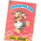 Wacky Jackie License Back Sticker Card 1985 Topps Garbage Pail Kids UK Mini #17a