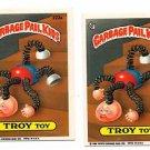 Troy Toy Sticker Lot (2) 1986 Topps Garbage Pail Kids #222a