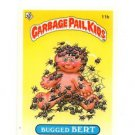 Bugged Bert License Back Sticker Card 1985 Topps Garbage Pail Kids UK Mini #11b