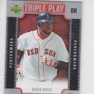 David Ortiz Triple Play Scratch Off Unscratched Insert 2007 Upper Deck  Red Sox