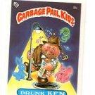 Drunk Ken License Back Sticker Card 1985 Topps Garbage Pail Kids UK Mini #9b