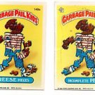 Reese Pieces Incomplete Pete Sticker Lot 1986 Topps Garbage Pail Kids 149a 149b