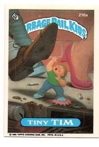 Tiny Tim Trading Card Sticker 1986 Topps Garbage Pail Kids #216a