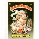 Nervy Nigel License Back Sticker Card 1985 Topps Garbage Pail Kids UK Mini #24a