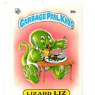 Lizard Liz License Back Sticker 1985 Topps Garbage Pail Kids UK Mini #38b