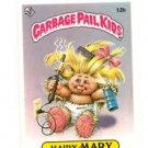 Hairy Mary License Back Sticker 1985 Topps Garbage Pail Kids UK Mini #12b