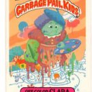 Off-Color Clark Sticker 1986 Topps Garbage Pail Kids #214a