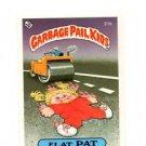 Flat Pat License Back Sticker 1985 Topps Garbage Pail Kids UK Mini #31b