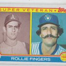 Rollie Fingers Super Vet Trading Card Single 1983 Topps #36 Brewers NMMT