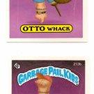 Elliot Mess Otto Whack Sticker 1986 Topps Garbage Pail Kids #213a 213b