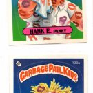 Hankey Pankey Nicky Hickey Sticker 1986 Topps Garbage Pail Kids #130a 130b