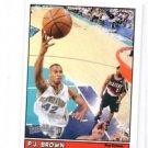 P.J. Brown Minis Insert Trading Card Single 1999-00 Topps Bazooka #57 Hornets
