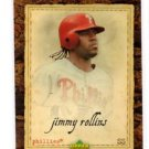 Jimmy Rollins Trading Card Single 2007 UD Artifacts #59 Phillies