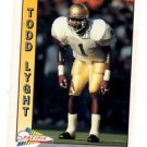 Todd Lyght RC Trading Card Single 1991 Pacific #550