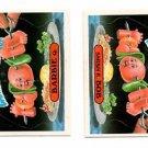 Barbie Q & Shish K Bob Sticker Lot (2) 1986 Topps Garbage Pail Kids #245a 245b