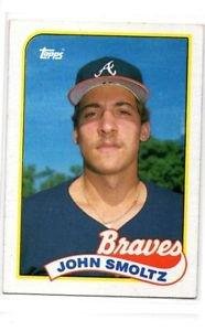 John Smoltz RC Trading Card Single 1989 Topps #382 Braves