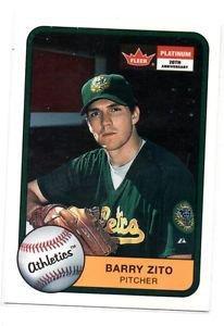 Barry Zito Trading Card Single 2001 Fleer Tradition #250 Athletics