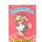 Jason Basin License Back Sticker 1985 Topps Garbage Pail Kids UK Mini #14b
