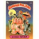 Stinky Sam License Back Sticker 1985 Topps Garbage Pail Kids UK Mini #22b