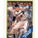 Nolan Ryan Trading Card Single 1988 Topps #250 Astros NMT