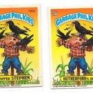 Stuffed Stephen Rutherford B Hay Sticker 1986 Topps Garbage Pail Kids 131a 131b