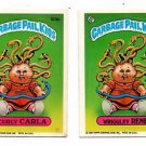 Wriggley Rene Curly Carla Sticker 1986 Topps Garbage Pail Kids #130a 130b