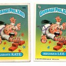 Bruised Lee Karate Kate Sticker 1986 Topps Garbage Pail Kids #94a 94b NMT