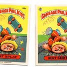 Pat Splat Hurt Curt Sticker Lot 1986 Topps Garbage Pail Kids #89a #89b EX+