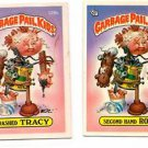 Trashed Tracy Second Hand Rose Sticker 1986 Topps Garbage Pail Kids 129a 129b