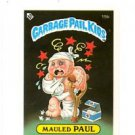 Mauled Paul License Back Sticker 1985 Topps Garbage Pail Kids UK Mini #15b