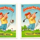 Joel Hole Teed-Off Tom Sticker Lot 1986 Topps Garabage Pail Kids #208a 208b