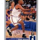 Monty Williams Silver Signature 1994-95 UD Collector's Choice #246 Knicks