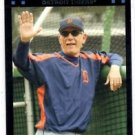 Jim Leyland Red Back SP MGR Trading Card 2007 Topps #610 Tigers