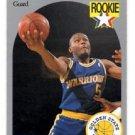 Tim Hardaway RC Trading Card Single 1990 Hoops #113 Warriors