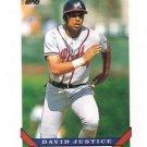 David Justice Trading Card Single 1992 Topps #170 Braves