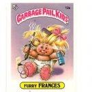 Furry Frances LIcense Back Sticker Card 1985 Topps Garbage Pail Kids UK Mini 12a