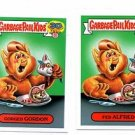 Fed Alfred Gorged Gordon 80s Spoof 2015 Topps Garbage Pail Kids #9a 9b