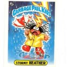 Stormy Heather License Back Sticker 1985 Topps Garbage Pail Kids UK Mini #7a