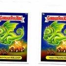 Reptillian Killian Fiery Francis 2013 Topps Garbage Pail Kids Minis #98a 98b