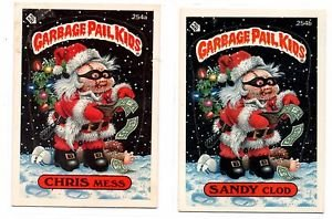Chris Mess Sandy Clod Trading Card Lot 1987 Topps Garbage Pail Kids 254a 254b