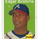 Edgar Renteria Trading Card Single 2007 Topps Heritage #110 Braves